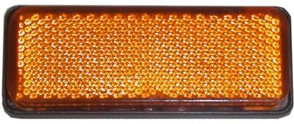 Picture of Reflector Amber Rectangle Bolt-on Black Rim 85mm x 30mm
