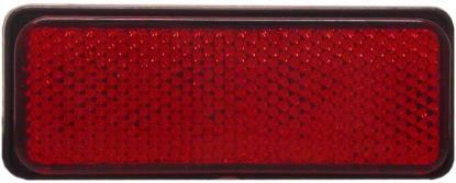 Picture of Reflector Red Rectangle Bolt-on Black Rim 85mm x 30mm