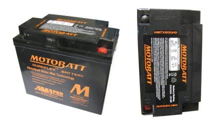 Motobatt Battery MBTX20UHD Fully Sealed CTX20 All Supplied in Black Each