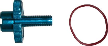 Picture of Cable Adjuster Handlebar Alloy Blue 8mm Cable