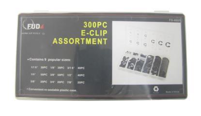 Picture of 'E' Clip 300pc Assortment (Kit)