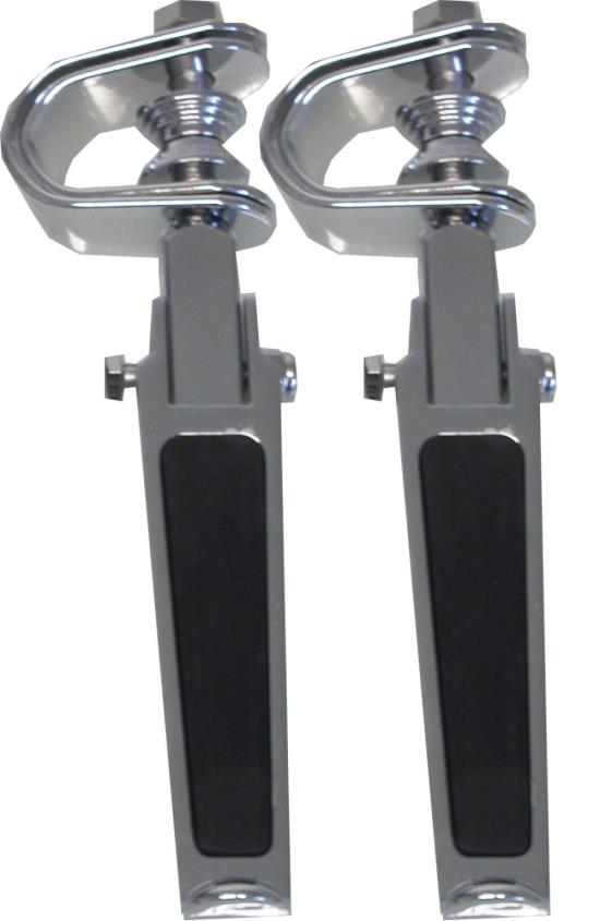 Picture of Footrests Clamp-On Rubber Inlay Style (Pair)