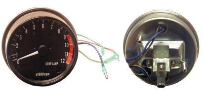 Picture of Clock Tacho Kawasaki Z's with stop lamp light up to 12000rpm (Set)