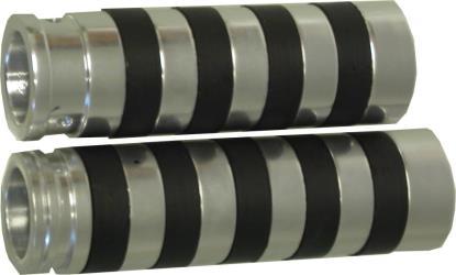 Picture of Grip Set Chrome Aluminum Harley Davidson Single Cable 73-80 (Pair)