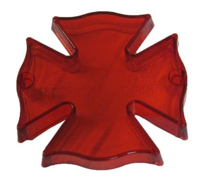 Picture of Tailight Lens Fire Maltese Cross with Red Lens
