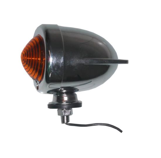 Picture of Bullet Light Chrome Winged with Amber Lens