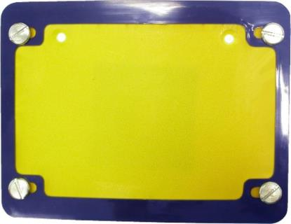 Picture of Number Plate Surround 6 Digit Blue