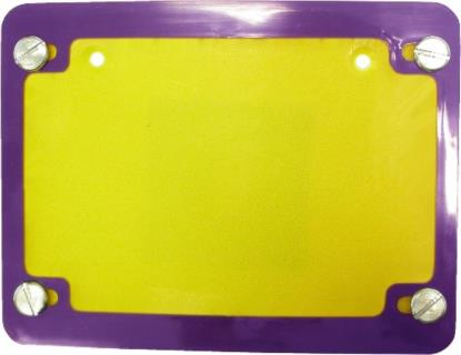 Picture of Number Plate Surround 6 Digit Purple