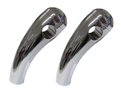 """Picture of Handlebar Risers Chrome 1"""" Pullback short with Round Dome (Pair)"""