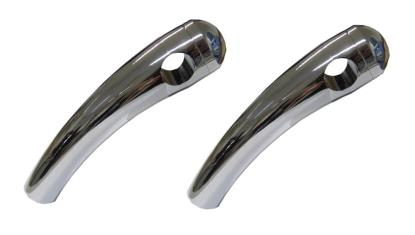 """Picture of Handlebar Risers Chrome 1"""" Pullback long with Round Dome (Pair)"""