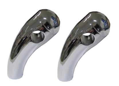 """Picture of Handlebar Risers Chrome 7/8"""" Pullback short with Round Dome"""
