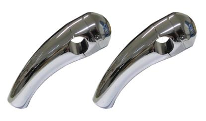 """Picture of Handlebar Risers Chrome 7/8"""" Pullback medium with Round Dome (Pair)"""