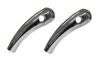 """Picture of Handlebar Risers Chrome 7/8"""" Pullback long with Round Dome (Pair)"""