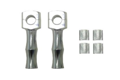 """Picture of Handlebar Risers 5"""" Chrome Dome Top (Pair)"""
