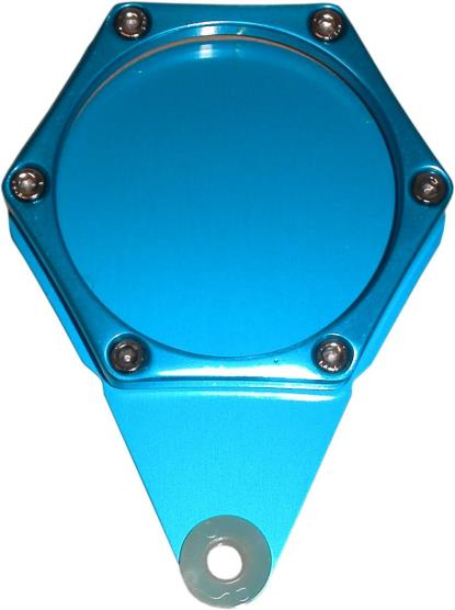Picture of Tax Disc Holder Hexagon Blue 6 Studs