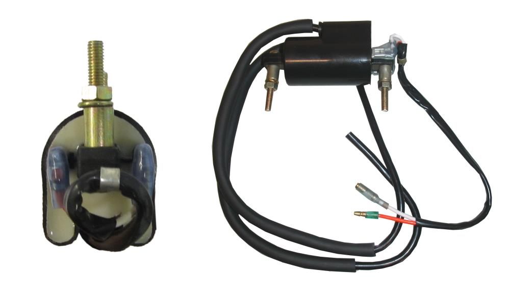 Ignition Coil 12v Points Chrome Twin Lead 2 Poles