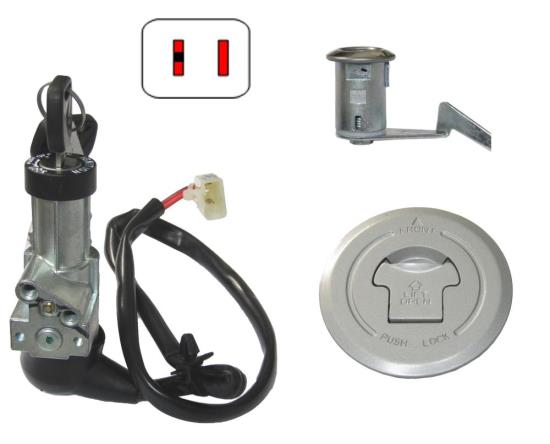 Picture of Ignition Switch & Tank Cap Honda CBF125 (Pair)