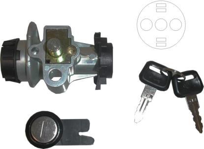 Picture of Ignition Switch & Seat Lock Peugeot Speedfight 50 5 Pin