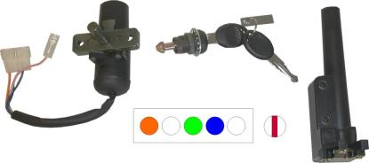 Picture of Ignition Switch & Seat Lock Aprilia SR50, Derbi 4 Wires