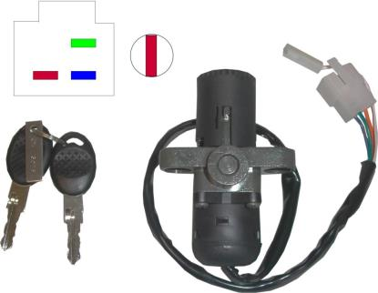 Picture of Ignition Switch Aprilia RS50 (4 Wires) 1996-1998