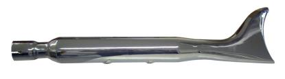 Picture of Exhaust Silencer Chrome 45mm Fish Tail 24'' Long Universal