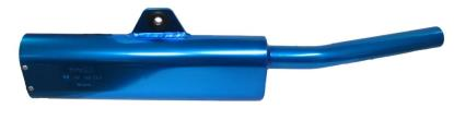 Picture of Exhaust Tailpipe Trail Blue Universal with back mounting