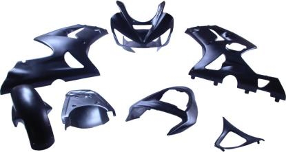 Picture of Fairing Complete Kawasaki ZX636R 2003-2004 (Black-7)