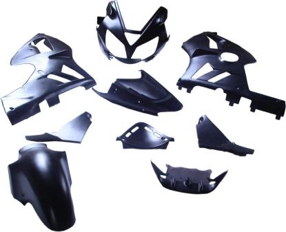 Picture of Fairing Complete Kawasaki ZX12R 2002-2004 (Black-9)