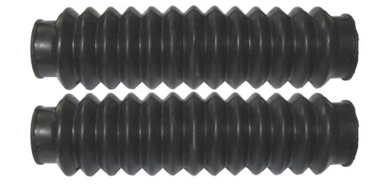 Picture of Fork Gaitors Small Black 180mm Long Top 28mm Bottom 34mm (Pair)
