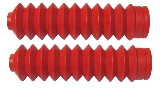 Picture of Fork Gaitors Small Red 225mm Long Top 26mm Bottom 45mm (Pair)
