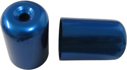 Picture of Bar End Cover Blue GS500E, GSX750F, RF900R, GSXR1100 (Pair)