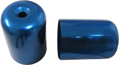 Picture of Bar End Cover Blue GSXR1100WP, WR (Pair)