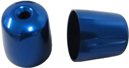 Picture of Bar End Cover Blue Triumph Daytona 900-1200, Sprint, S/Triple (Pair)
