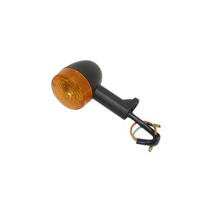 Picture of Complete Indicator Aprilia 50 Black Body Stem Length 45mm(Amber)
