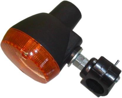 Picture of Complete Indicator Kawasaki KE100, KE125, KE175, KL250 Front(Amber)