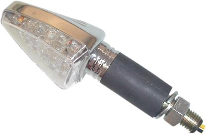 Picture of Complete Indicator LED Arrow Chrome Long Stem with Clear Lens E-Marked (Pair)