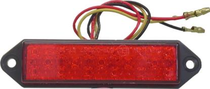 Picture of Complete Taillight LED Red Lens Adhesive & Bolt 30mm x 95mm