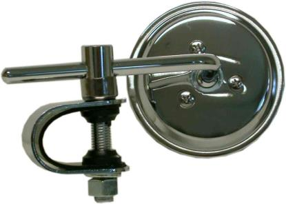 Picture of Mirror Clamp-on Chrome Round Left or Right 3'' Long Stem