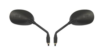 Picture of Mirrors 8mm Black Rectangle Left & Right Sports Long Stem (Pair)