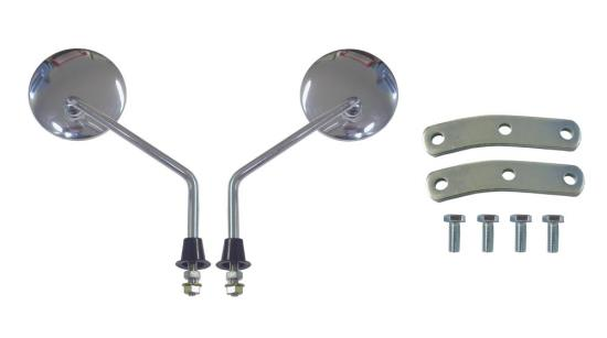 Picture of Mirrors 10mm Chrome Round Left & Right Vespa PX & Universal (Pair)