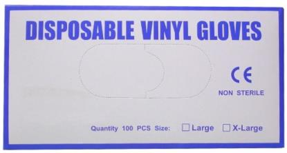 Picture of Disposable Vinyl Gloves XX/Large (Per 100)