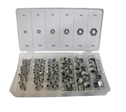 Picture of Nuts Nyloc 4mm, 5mm, 6mm, 8mm, 10mm, 12mm 146pc Assortment (Kit)