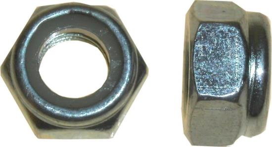 Picture of Nuts Nyloc 12mm Thread Uses 19mm Spanner (Pitch 1.75mm) (Per 20)