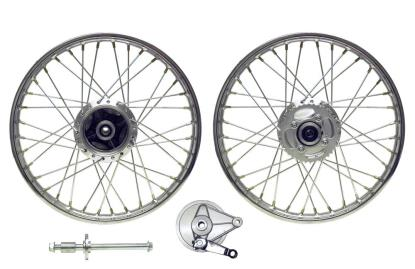 Picture of Rear Wheel CG125 04-08 drum with brake plate (Rim 1.40 x 18)
