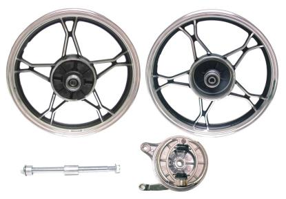 Picture of Rear Wheel GN125 drum brake aluminum (Rim 2.15 x 16)