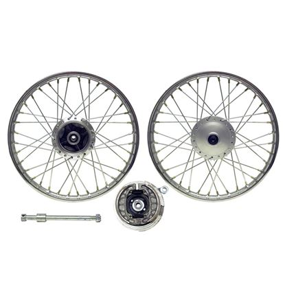 Picture of Front Wheel YB100 drum brake with brake plate (Rim 1.40 x 18