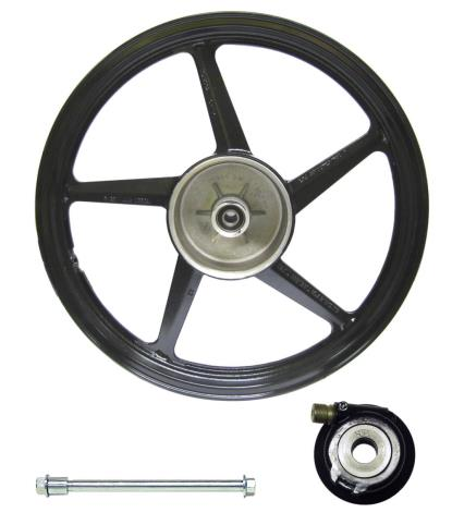 Picture of Front Wheel YBR125 disc brake Silver (Rim 1.60 x 18)