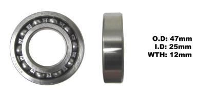 Picture of Bearing Koyo 6005(I.D 25mm x O.D 47mm x W 12mm)