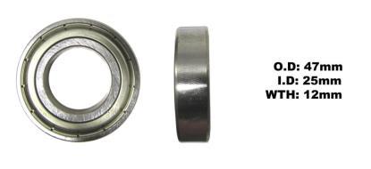 Picture of Bearing Koyo 6005Z(I.D 25mm x O.D 47mm x W 12mm)