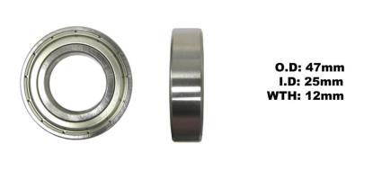 Picture of Bearing Koyo 6005ZZ(I.D 25mm x O.D 47mm x W 12mm)